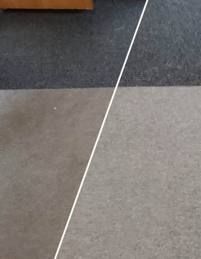 Office entrance carpet before and after cleaning