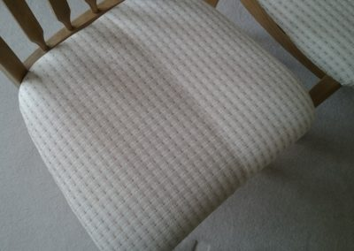 Dining chair during cleaning process