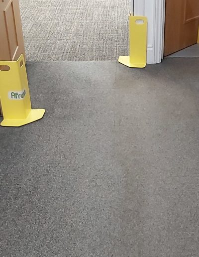 Protecting office doorways with corner guards